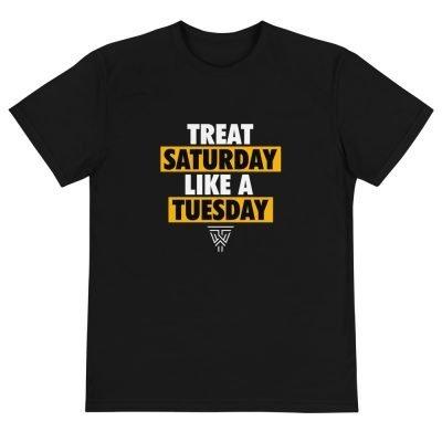 Satement (White/Gold) Black T-Shirt