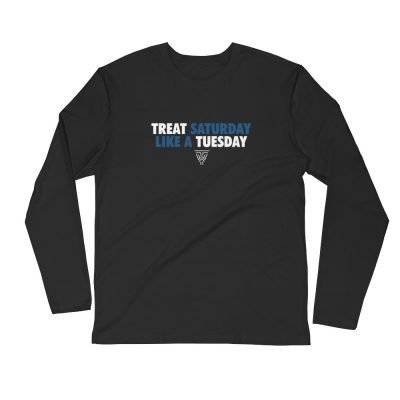 Classic (White/Blue) Long Sleeve Fitted Crew