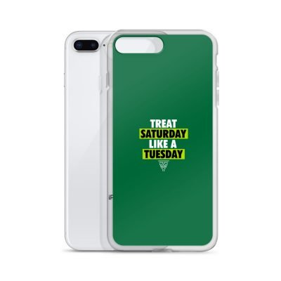 Statement (White/Green) Green IPhone Case