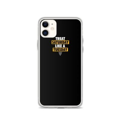 Statement (White/Gold) Black IPhone  Case